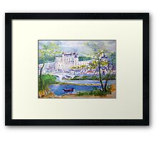 Chateau Amboise watercolor painting  Framed Print