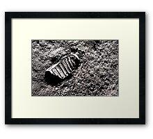 First moon footprint. Framed Print