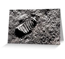 First moon footprint. Greeting Card
