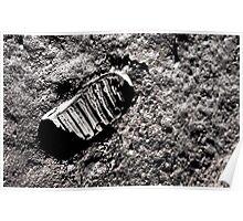 First moon footprint. Poster