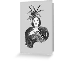 Fashion woman Greeting Card