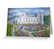 Chateau de Villendry watercolor painting Greeting Card