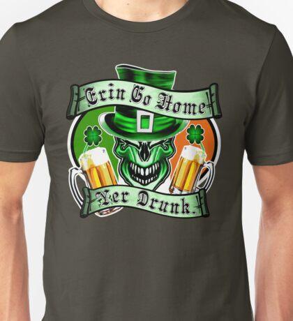 Leprechaun Skull 3: Erin Go Home Yer Drunk Unisex T-Shirt