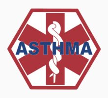 ASTHMA MEDICAL ALERT ID TAG One Piece - Short Sleeve