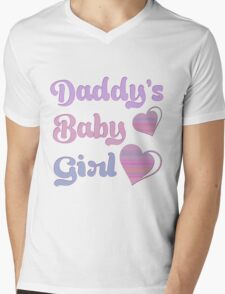 Daddy's Baby Girl Mens V-Neck T-Shirt