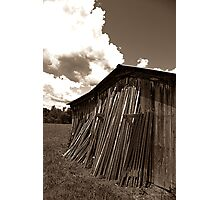 Shope's Shed (sepia) Photographic Print