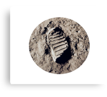 Most famous footprint ever. Astronaut moon mission. Canvas Print