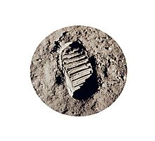 Most famous footprint ever. Astronaut moon mission. Photographic Print