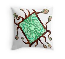 Abalone Droplet Frame Throw Pillow