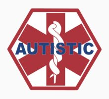 AUTISTIC MEDICAL ALERT ID TAG One Piece - Long Sleeve