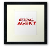 Smart Good Looking Special Agent T-shirt Framed Print