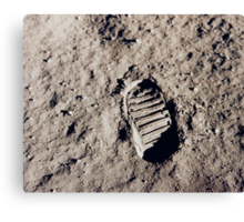 Moon footprint. Canvas Print