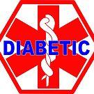 DIABETES  - DIABETIC MEDICAL ALERT ID TAG by SofiaYoushi
