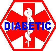 DIABETES  - DIABETIC MEDICAL ALERT ID TAG by SofiaYoushi