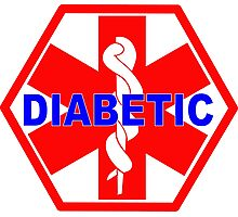 DIABETES  - DIABETIC MEDICAL ALERT ID TAG Photographic Print