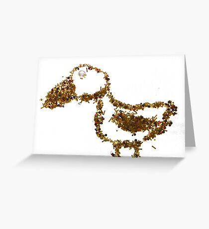 Bead Work: Bird Greeting Card