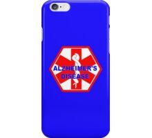 Alzheimer's disease medical alert Identification Tag iPhone Case/Skin
