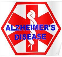Alzheimer's disease medical alert Identification Tag Poster