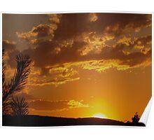 Okanogan Sunset Poster