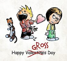 Valentines Day Calvin and Hobbes and Susie Fan Art by wimpy