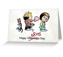 Valentines Day Calvin and Hobbes and Susie Fan Art Greeting Card