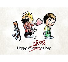 Valentines Day Calvin and Hobbes and Susie Fan Art Photographic Print