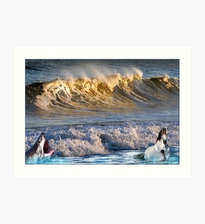 926-High Surf Drama Art Print