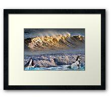 926-High Surf Drama Framed Print