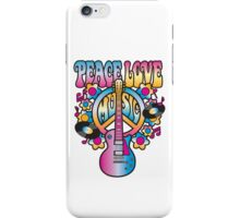 Peace, Love and Music in Bright Colors iPhone Case/Skin