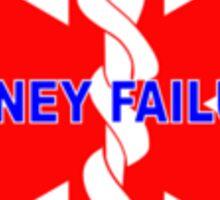 KIDNEY FAILURE MEDICAL ALERT IDENTIFICATION ID TAG  Sticker