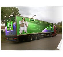 Pakistan's 60TH Anniversary) Sony Ericsson W910i Mobile Phone as seen on a Lorry. Poster
