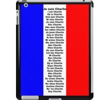 I am Charlie (Je suis Charlie), in any language iPad Case/Skin