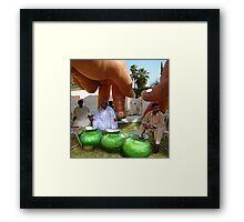 Commander Sohail invites Outerspace Hand to his brother's wedding to the Fingio's delight Framed Print