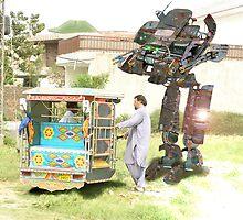 I like your Pathan Built Fully Customized Hotrod Karachi Kickbot Piloted Rickshaw Landwalker by Kenny Irwin