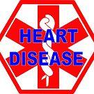 Heart disease medical alert Identification ID tag  by SofiaYoushi