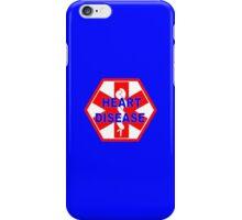 Heart disease medical alert Identification ID tag  iPhone Case/Skin