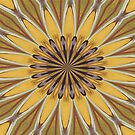 Yellow and Ochre Flower Pattern Absract by taiche