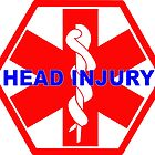 Head injury medical alert ID tag by SofiaYoushi