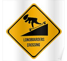 Longboarders crossing. Skate. Poster