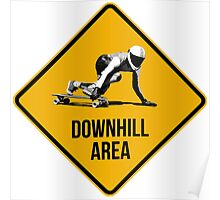 Downhill Area. Skaters and longboarders expected! Poster