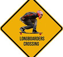 Longboarders crossing caution sign. by 2monthsoff