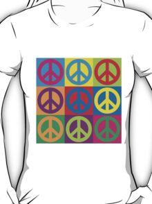 Pop Art Peace Symbols T-Shirt