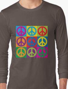 Pop Art Peace Symbols Long Sleeve T-Shirt