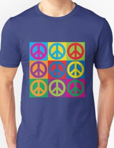 Pop Art Peace Symbols Unisex T-Shirt