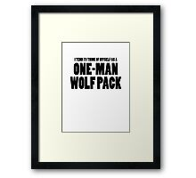 The Hangover - One-Man Wolf Pack Framed Print