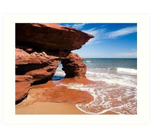 Red Rock Arch, Prince Edward Island, Canada Art Print