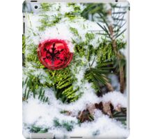 Red Jingle Bell and Snow iPad Case/Skin