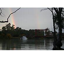 Double Rainbow at the Bridge Photographic Print