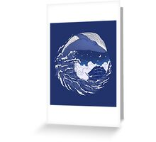 The great whale Greeting Card