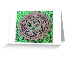 Om Clover Greeting Card